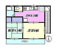 神奈川県茅ヶ崎市本村1丁目の賃貸アパートの間取り