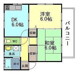 ソフィ大宮[2階]の間取り