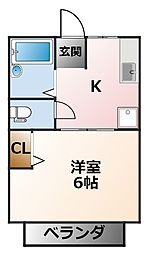 シティハイム太子苑[1階]の間取り