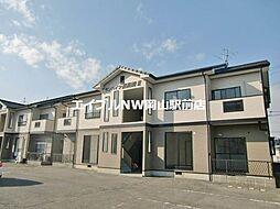 岡山県岡山市南区西高崎の賃貸アパートの外観