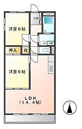 エリジオンII[1階]の間取り