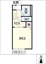 パストラール南岩崎[2階]の間取り