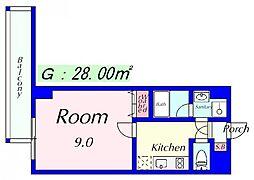 エンゼルプラザEast1[7階]の間取り