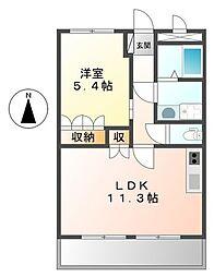 ピアコート[4階]の間取り