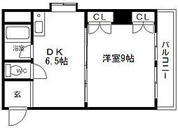 シルバーハイツ東寺町[5階]の間取り