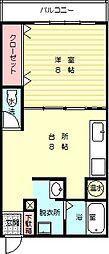 コーポ松本 3階1DKの間取り
