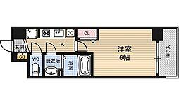 アスヴェル新大阪SOUTH 8階1Kの間取り