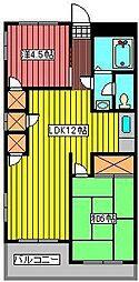 新田第5ハイツ[2階]の間取り