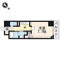 JR東海道・山陽本線 草津駅 徒歩9分の賃貸マンション 8階1Kの間取り