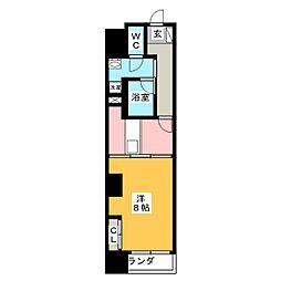 POWERHOUSE the residence 3階1DKの間取り