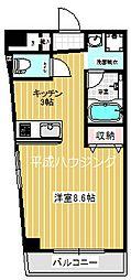 ELC.加賀[201号室]の間取り