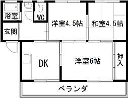 マンション渋谷[203号室]の間取り