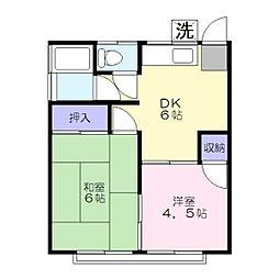 エコーハイツ[2階]の間取り