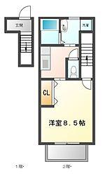 アレグレス栄町[2階]の間取り