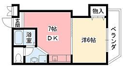 兵庫県西宮市段上町2丁目の賃貸アパートの間取り