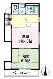 吉乃マンション[3階]の間取り