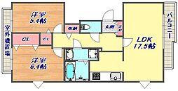 シュネルパーク・レジデンス[2階]の間取り