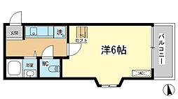 アートハイツ田寺[306号室]の間取り
