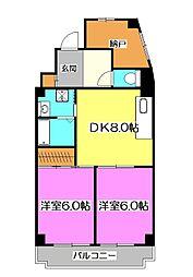 ドリーム1号館[1階]の間取り