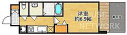 プレサンス京都二条京華 1階1Kの間取り