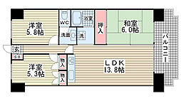 ライオンズマンション西鈴蘭台第2[208号室]の間取り