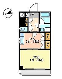 アメニティ代官町[2階]の間取り