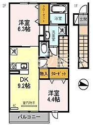 エクレール福井[2033号室]の間取り