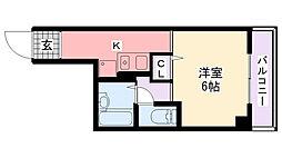 アンボワ−ズ武庫川レディース[208号室]の間取り