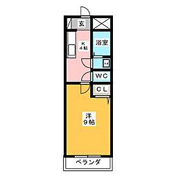 武藤コーポ[3階]の間取り