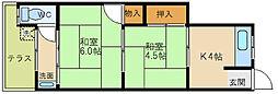 [タウンハウス] 大阪府大阪市福島区大開2丁目 の賃貸【/】の間取り