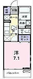 ヌーベル・ソウザI[1階]の間取り