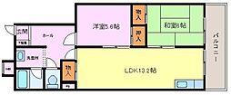 大阪府堺市堺区石津町3丁の賃貸マンションの間取り