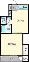 アーバンハウスカントリー[203号室]の間取り