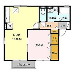 ハイツ・クレール坂東ABC[2階]の間取り
