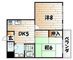 レジデンス菅原[3階]の間取り