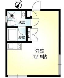 東京メトロ有楽町線 月島駅 徒歩3分の賃貸マンション 1階ワンルームの間取り