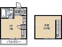千寿シーク6[4階]の間取り