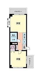 STビル第2[2階]の間取り