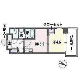 ブランオールB館[9階]の間取り