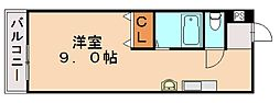福岡県飯塚市川津の賃貸マンションの間取り