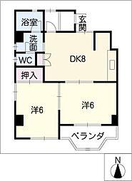 黒川第三ビル[3階]の間取り