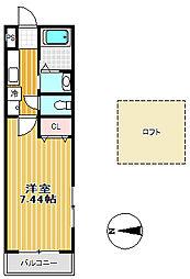カオール柏木[1階]の間取り