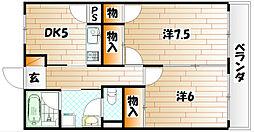 大里東マンション[2階]の間取り