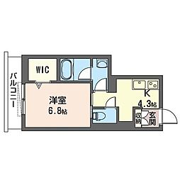 MAST リリープランドール早稲田 3階1Kの間取り