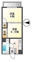 西東京ハイツ[3階]の間取り
