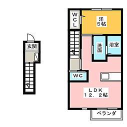 仮)フィカーサ小松寺B棟[2階]の間取り