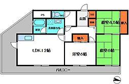 EZE京橋[6階]の間取り
