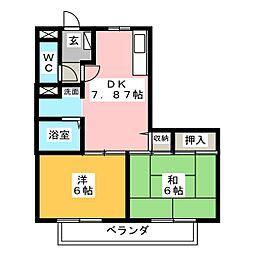 ニューソシアB[2階]の間取り