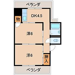 マンション彩城[3階]の間取り