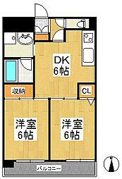 天神アコールマンション[3階]の間取り